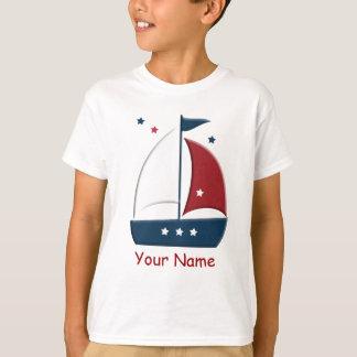 Segelboot-Seeseemann-Gewohnheits-T - Shirt