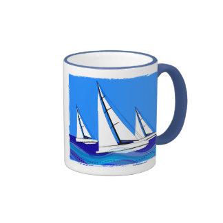 Segelboot-Trio Ringer Tasse