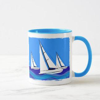Segelboot-Trio Tasse