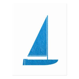 Segelboot-Verein-Geschenk-Segel-Boot KUNST NVN41 Postkarte