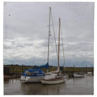 Segelboote auf dem Fluss Blythe Serviette