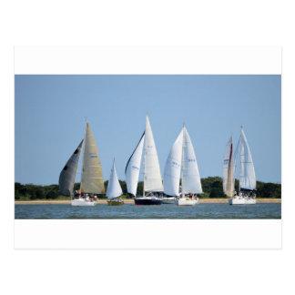 Segelboote auf Juli 4. Postkarte