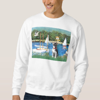 Segelboote - Boston Terrier #@ Sweatshirt