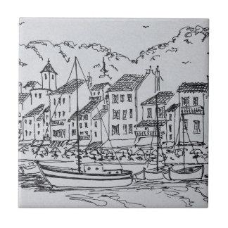 Segelboote im Hafen | Cassis, Frankreich Fliese