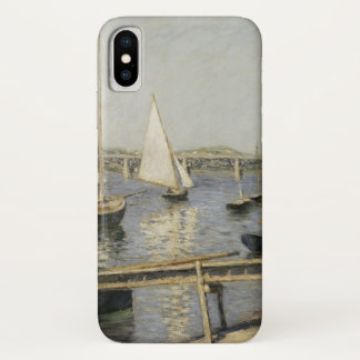 Segelboote in Argenteuil durch Gustave Caillebotte iPhone X Hülle