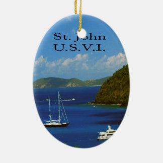 Segelboote Ovales Keramik Ornament
