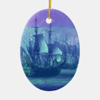 Segelboote, Träume, nebelhafter Morgen Weihnachtsbaum Ornamente
