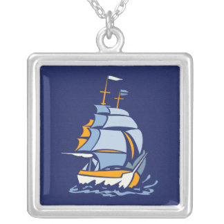 Segelboothalskette, kundengerecht versilberte kette