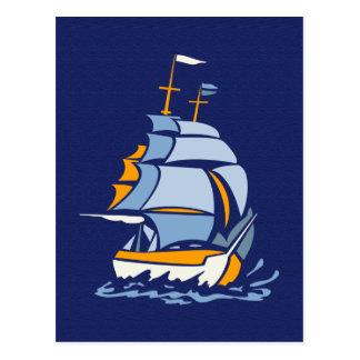 Segelbootpostkarte, kundengerecht postkarte