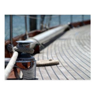 Segelbootsseil Postkarten