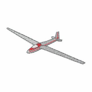 Segelflugzeug Bestickte Fleece Track Jacke
