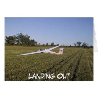Segelflugzeug heraus gelandet karte