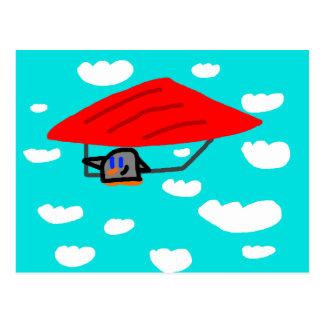 """Segelflugzeug-Klingeln"" Postkarte"