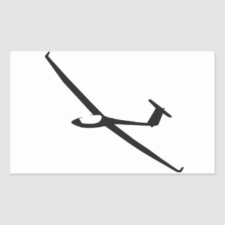 Segelflugzeug Rechteckiger Aufkleber