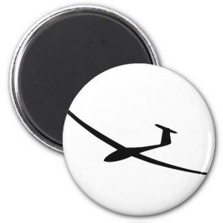 Segelflugzeug sailplane runder magnet 5,7 cm