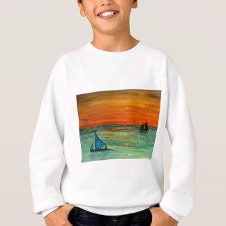 Segeln am Sonnenuntergang Sweatshirt