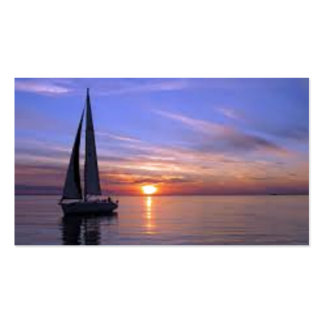 Segeln am Sonnenuntergang Visitenkarten