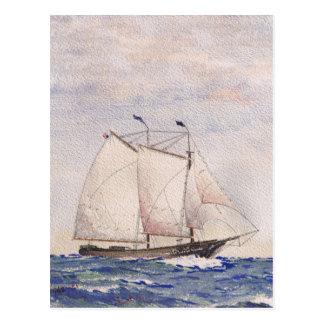 Segeln aus Nantucket heraus Postkarte