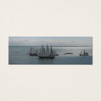 Segeln-Boote und Schiffe auf SeeLesezeichen-Karten Mini Visitenkarte