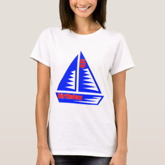 Segeln der 5. Geburtstags-Geschenke T-Shirt