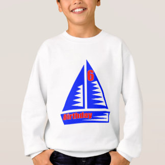 Segeln der 6. Geburtstags-Geschenke Sweatshirt