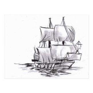 Segeln Galleon alte Schiffs-Kunst-Postkarte Postkarten