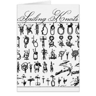 Segeln-Knoten Mitteilungskarte
