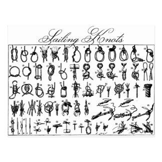 Segeln-Knoten Postkarte