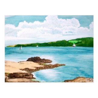 Segeln-Malerei-Postkarte Helford Fluss-, Cornwall Postkarte