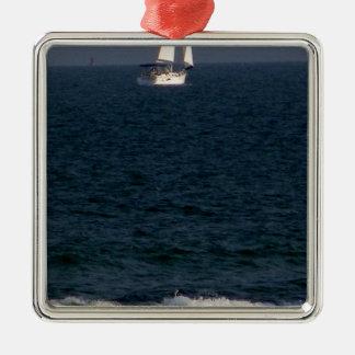 Segeln mit friends.JPG Silbernes Ornament