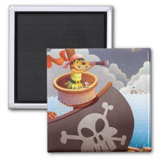 Segeln mit Piraten Quadratischer Magnet