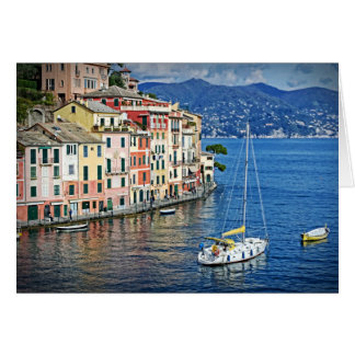 Segeln Portofino und die italienische Karte