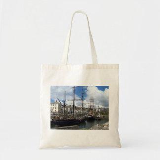 Segeln-Schiffe Charlestown Hafen-Cornwall-Foto Tragetasche