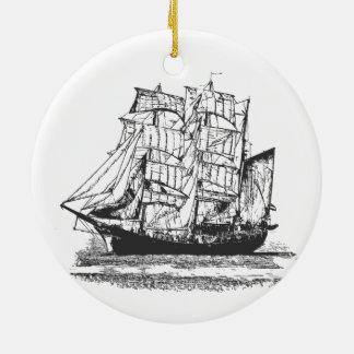 Segeln-Schiffs-Linie, die Segelboot Windjammer Keramik Ornament