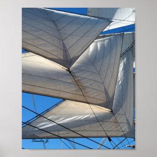 Segeln-Schiffs-Segel-Leinwand-Druck Poster