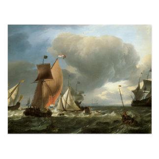 Segeln-Schiffs-und Staats-Yacht-Befestigung Postkarte