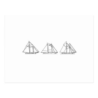 Segeln - Schooner-Segelboote Postkarte