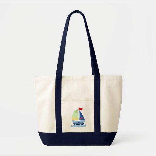 SEGELN-SEGEL-BOOT Taschen-Tasche - addieren Sie ei