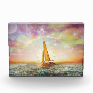 Segeln Sie das Meer Zeit-des horizontalen Acryl Auszeichnung