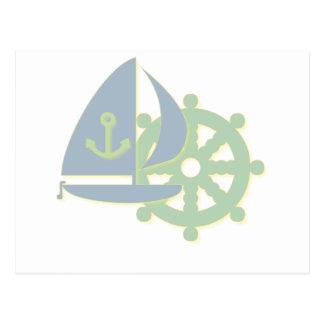 Segeln-Team-Postkarte Postkarte