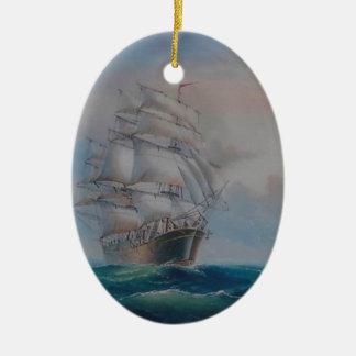Segeln-Träume Ovales Keramik Ornament