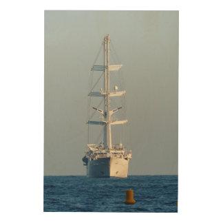 Segelnschiff Holzleinwand