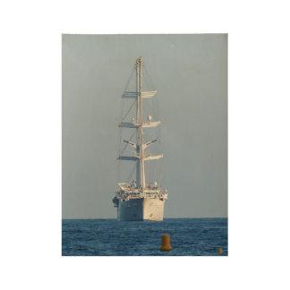 Segelnschiff Holzposter