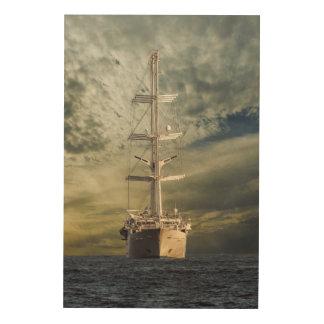 Segelnschlachtschiff Holzleinwand