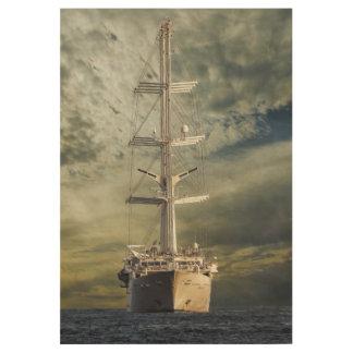 Segelnschlachtschiff Holzposter