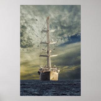 Segelnschlachtschiff Poster