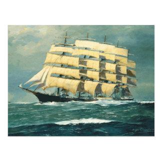 Segelschiff Preussen in Meer Postkarte
