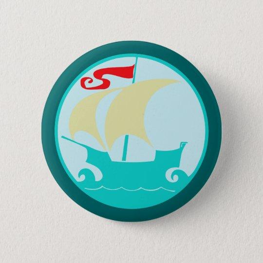 Segelschiff sailing ship runder button 5,1 cm