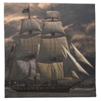 Segelschiff-Schiff Serviette