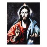 Segen-Einladungen El Grecos Christus